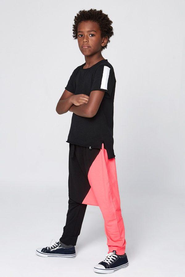 mix diagonal pantolon neon fuşya-0