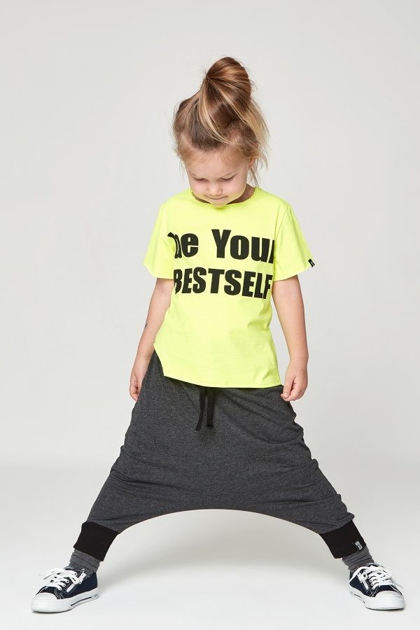 be your bestself tshirt - neon sarı-0