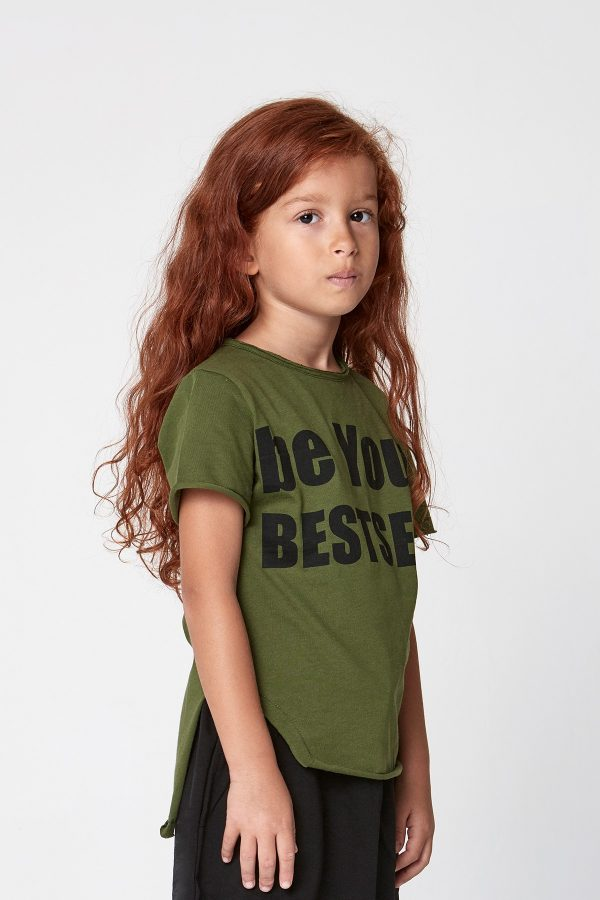 be your bestself tshirt - yeşil-0