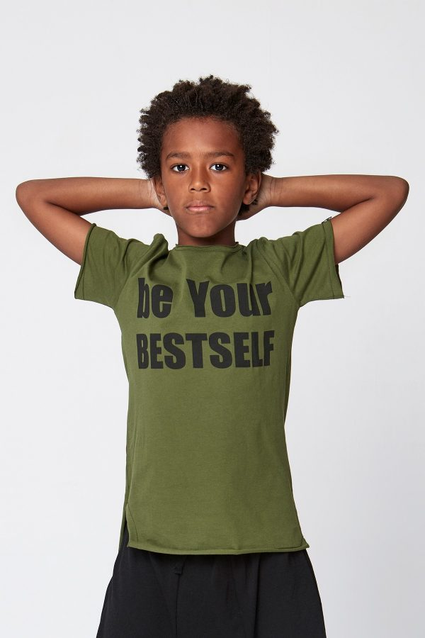 be your bestself tshirt - yeşil-1911