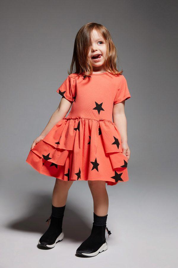 stardust - coral dress-0
